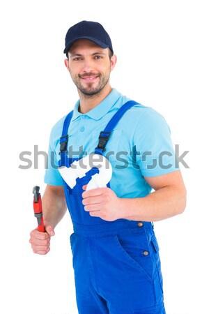Guapo masculina fontanero fregadero tubería Foto stock © wavebreak_media