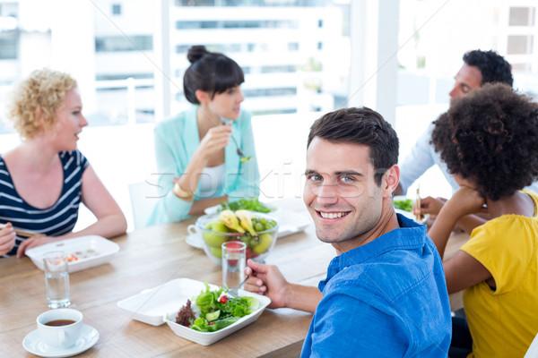 Businessman having lunch Stock photo © wavebreak_media