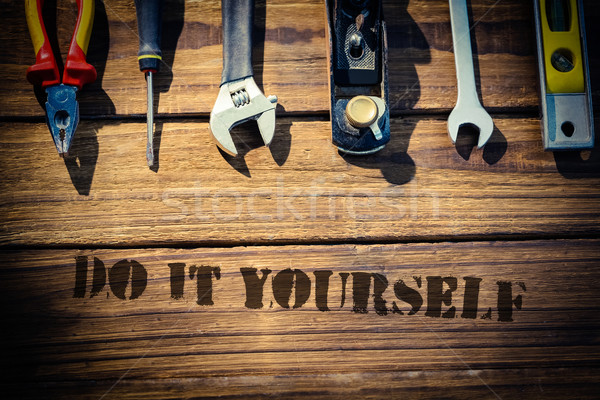 Photo stock: Do · it · yourself · bureau · outils · mot