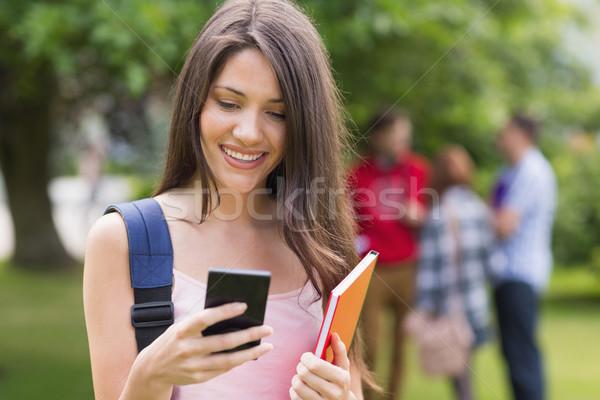 幸せ 学生 送信 文字 外 キャンパス ストックフォト © wavebreak_media