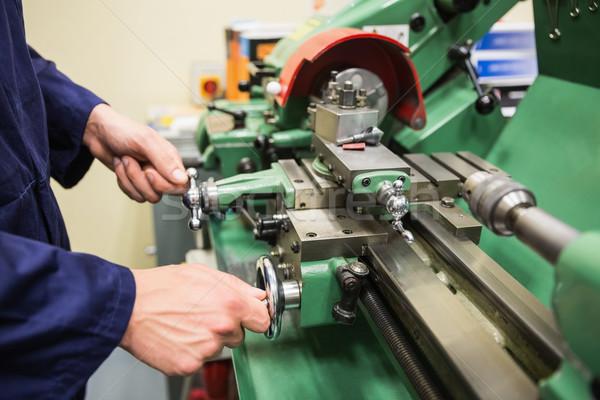Foto stock: Engenharia · estudante · pesado · maquinaria · universidade · escolas