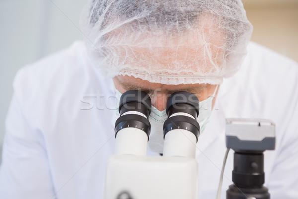 Bilim adamı örnek mikroskop laboratuvar teknoloji Stok fotoğraf © wavebreak_media