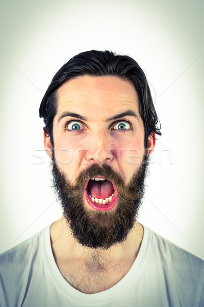 Handsome hipster shouting at camera Stock photo © wavebreak_media