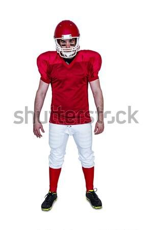 Komoly amerikai futballista néz kamera portré Stock fotó © wavebreak_media