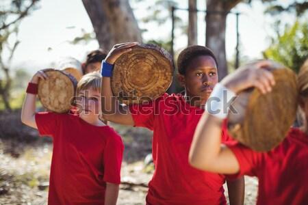 Kinderen opleiding boot kamp Stockfoto © wavebreak_media