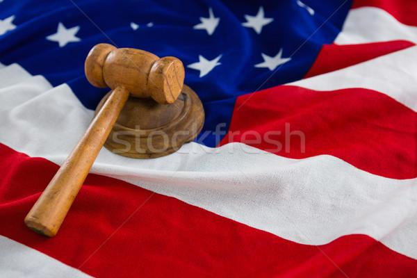 Marteau drapeau américain fond pavillon Photo stock © wavebreak_media