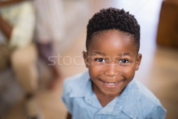 Portré mosolyog fiú otthon közelkép lány Stock fotó © wavebreak_media