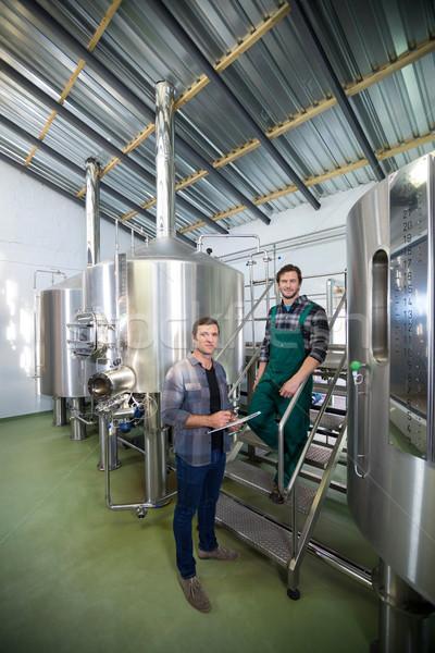 Permanente opslag tank brouwerij portret Stockfoto © wavebreak_media