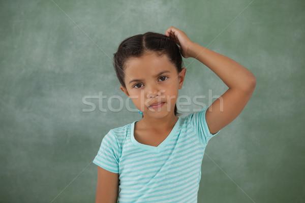 Jeune fille portrait enfant éducation Kid Photo stock © wavebreak_media
