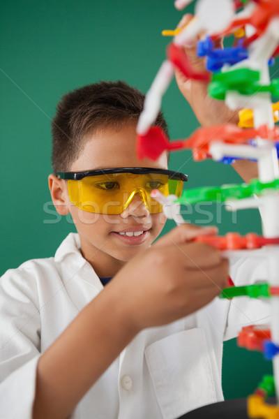 Sorridere scolaro modello laboratorio scuola bambino Foto d'archivio © wavebreak_media