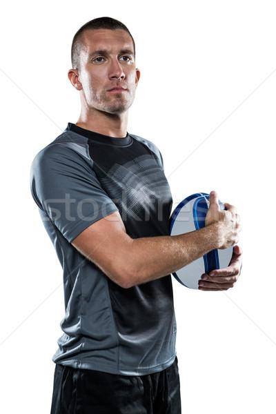 Rugby jogador bola preto branco Foto stock © wavebreak_media