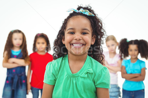 Kids standing together with girl in front Stock photo © wavebreak_media