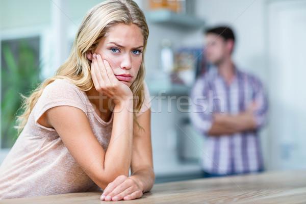 Annoyed couple ignoring each other Stock photo © wavebreak_media
