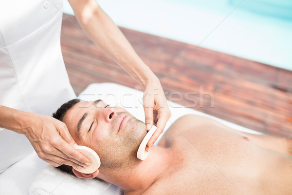 Man massage masseur spa vrouw schoonheid Stockfoto © wavebreak_media