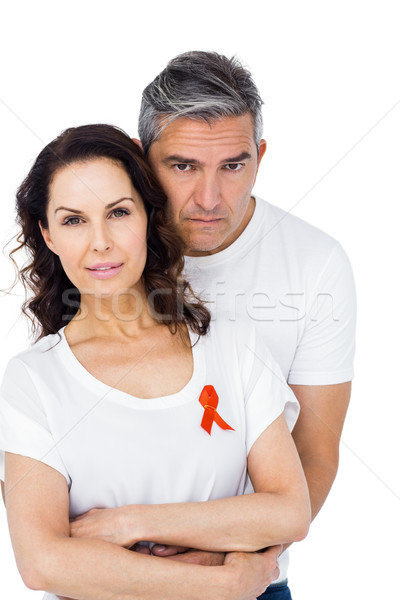 Couple supporting aids awareness together Stock photo © wavebreak_media