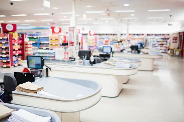 View of tills and shelves  Stock photo © wavebreak_media