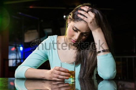 Triste uomo bar counter giovane vetro Foto d'archivio © wavebreak_media