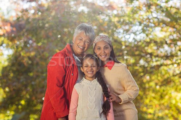 Happy multi-generation family at park Stock photo © wavebreak_media