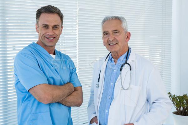 Foto stock: Retrato · médico · cirujano · clínica · hombre · hospital