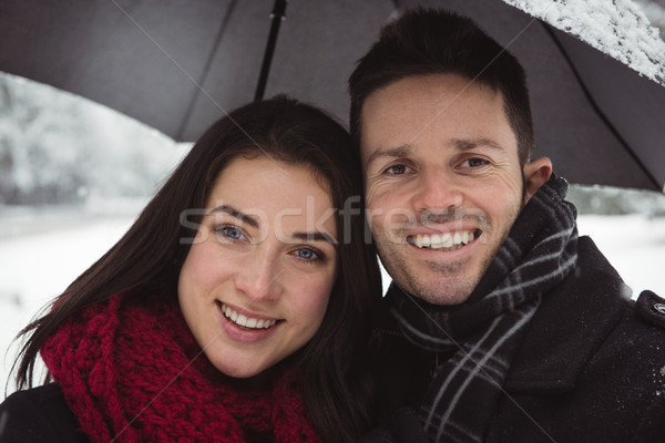 Close-up of smiling couple in forest Stock photo © wavebreak_media