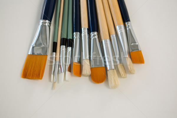 Különböző festőecsetek csetepaté festék oktatás szerszám Stock fotó © wavebreak_media