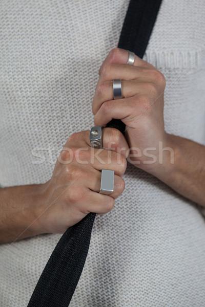 Transgender zak gordel meubels zwarte Stockfoto © wavebreak_media