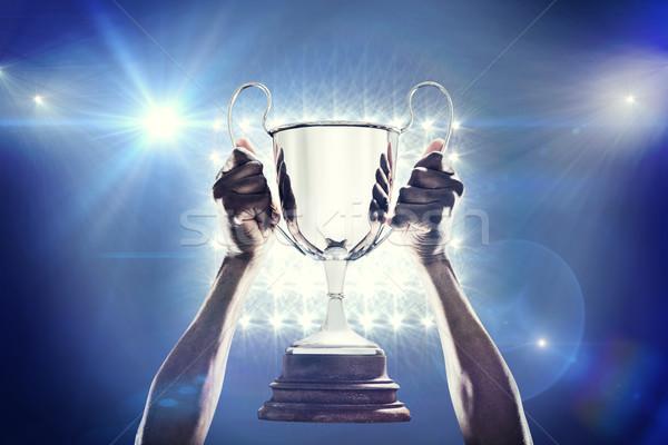 Imagen mano atleta trofeo Foto stock © wavebreak_media