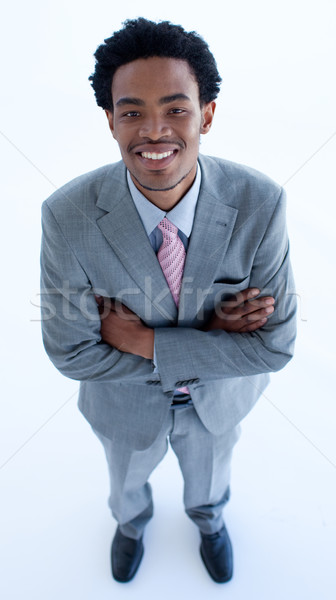 High angle of businessman with folded arms Stock photo © wavebreak_media