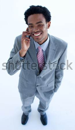 Afro-American businessman showing ok sign Stock photo © wavebreak_media