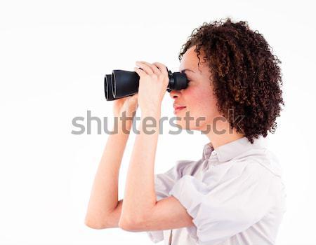 Smiling businesswoman predicting future success Stock photo © wavebreak_media