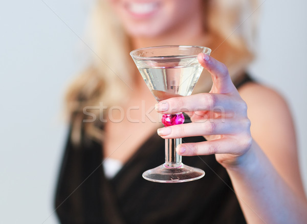 Close-up of an glamorous woman holding a cocktail focus on cocktail  Stock photo © wavebreak_media