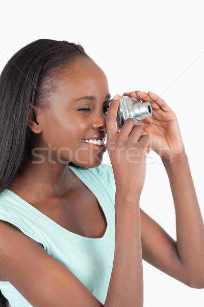 側面図 若い女性 写真 白 少女 ストックフォト © wavebreak_media