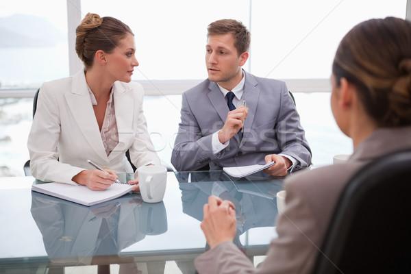 ビジネスチーム 弁護士 紙 作業 作業 話し ストックフォト © wavebreak_media