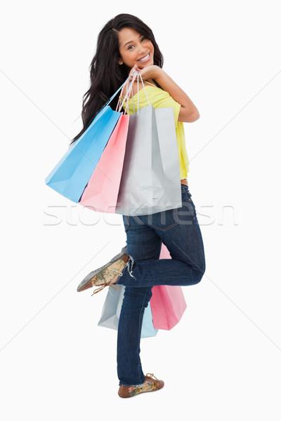 Vue arrière heureux étudiant blanche Shopping Photo stock © wavebreak_media