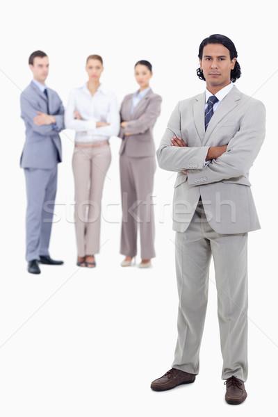 ストックフォト: ビジネスマン · 腕 · 深刻 · 人 · 白 · ビジネス