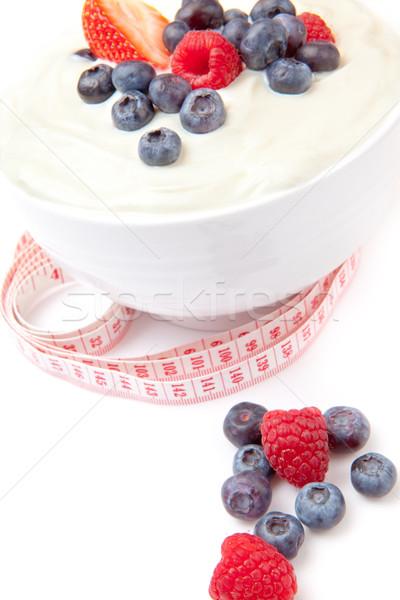 Diferente creme fita métrica branco fundo Foto stock © wavebreak_media