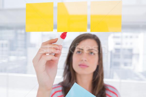 Kadın yazı yapışkan not yaratıcı ofis iş Stok fotoğraf © wavebreak_media