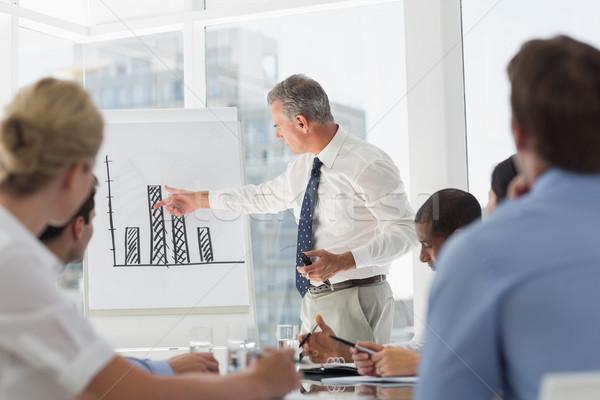 Starszy biznesmen wykres słupkowy koledzy biuro Zdjęcia stock © wavebreak_media