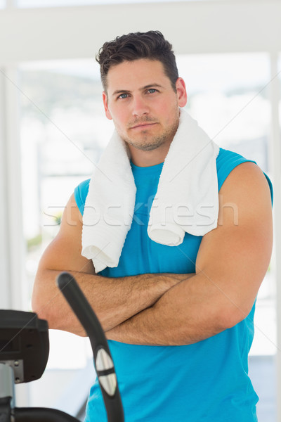 Serious young man working out at spinning class Stock photo © wavebreak_media