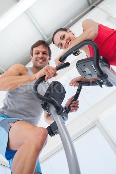 Sorridente classe ginásio homem Foto stock © wavebreak_media