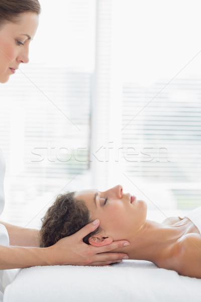 Terapeuta mulher feminino mãos Foto stock © wavebreak_media