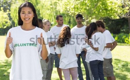 美しい ポインティング Tシャツ 肖像 友達 ストックフォト © wavebreak_media