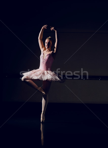 Belle ballerine danse danse studio ballet Photo stock © wavebreak_media