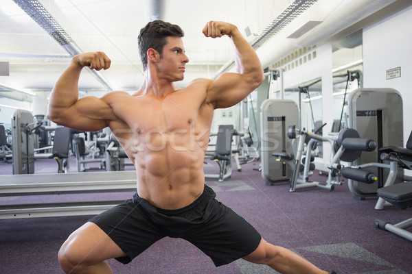 Torse nu musculaire homme muscles gymnase portrait Photo stock © wavebreak_media