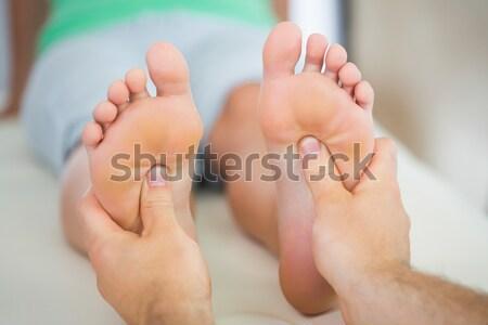 Stok fotoğraf: Kadın · ayak · masaj · genç · kadın · spa