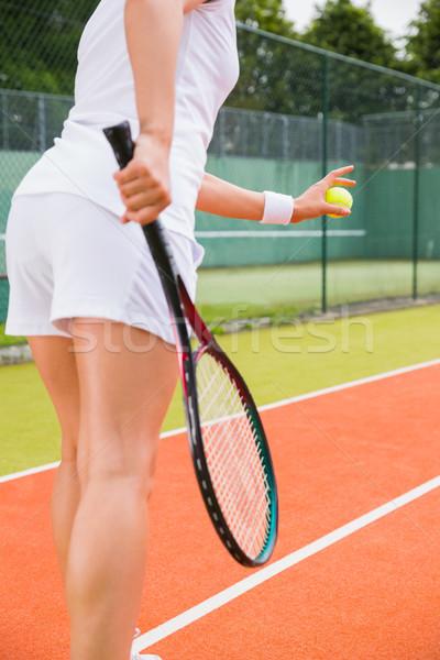 Prêt sport fitness balle Photo stock © wavebreak_media
