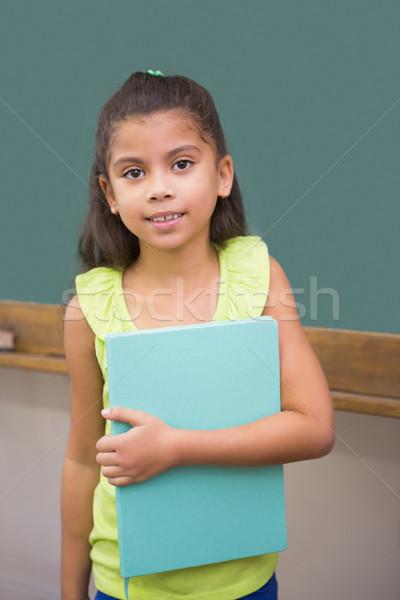 Cute glimlachend camera klas notepad Stockfoto © wavebreak_media