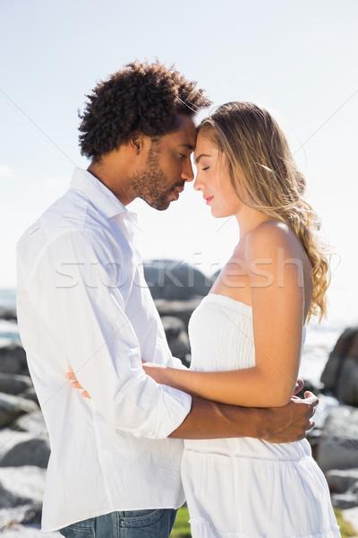 великолепный пару побережье человека Сток-фото © wavebreak_media