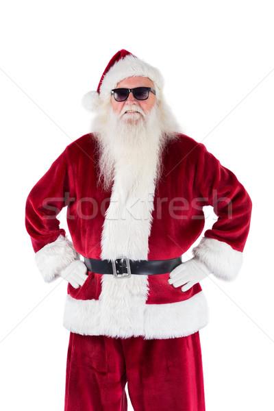 Papai noel preto óculos de sol branco homem rocha Foto stock © wavebreak_media