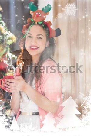 Bruna Natale Hat mug home Foto d'archivio © wavebreak_media